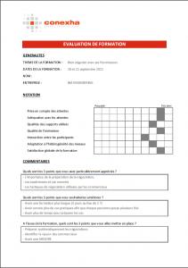 Evaluation de formation